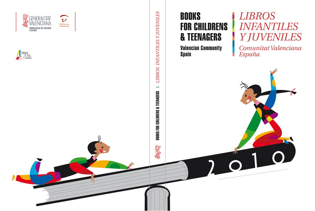 Cubiertas - Catálogo de libros infantiles y juveniles, Bolonia 2010, diseño Paco Giménez