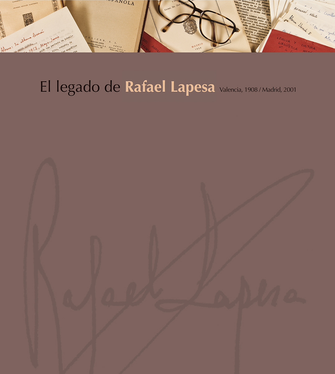 portada, El legado de Rafael Lapesa, diseño Paco Giménez