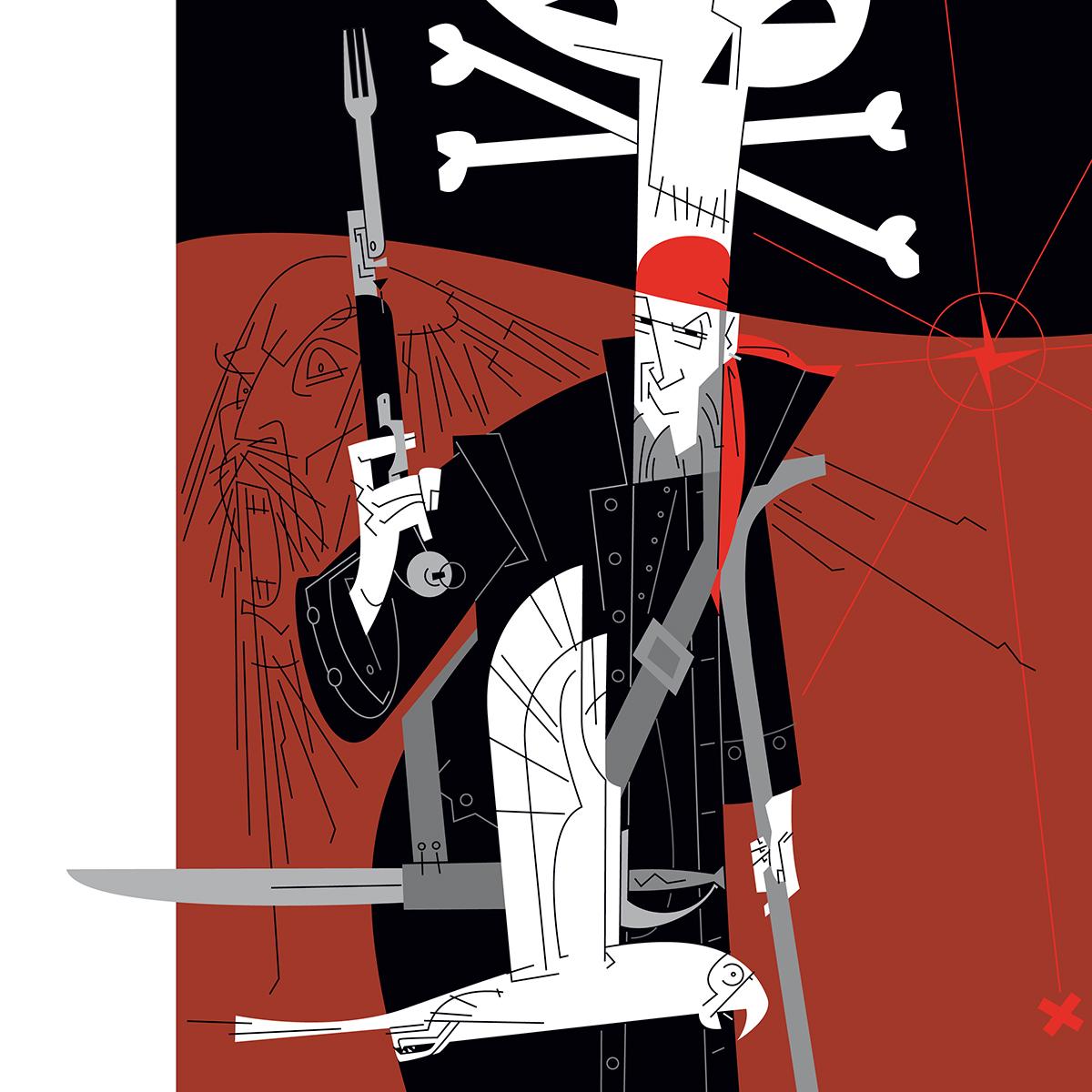John Silver Paco Gimenez illustration