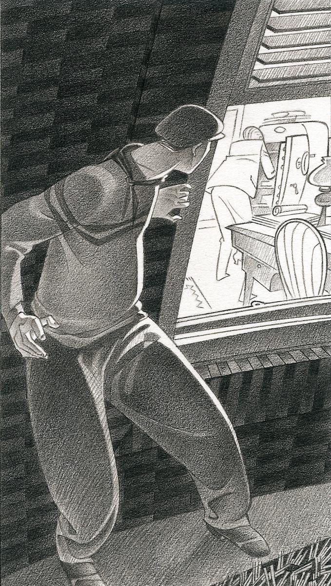 02- Ladrón - 'Sherlok Holmes y el constructor de Norwwood', Arthur Conan Doyle, Paco Giménez, Ed. Bromera