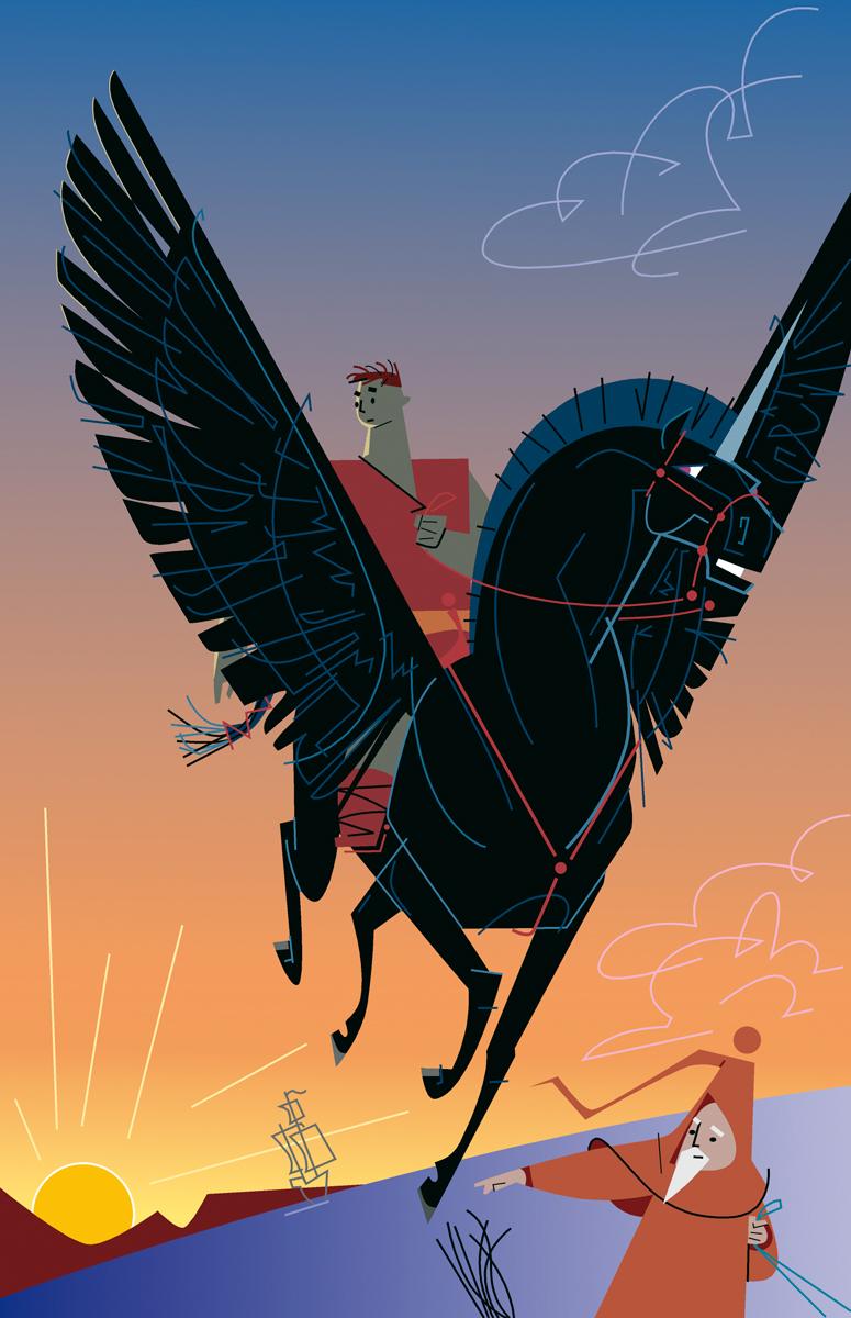 02- Pegasus, 'Contes d'ahir i de sempre', Carles Cano i Paco Giménez, Perifèric Ed.