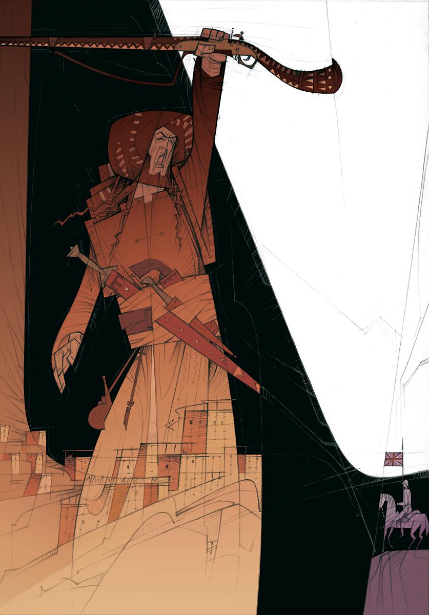 02 Rudyard Kipling, El regimiento perdido, ilustración de Paco Giménez