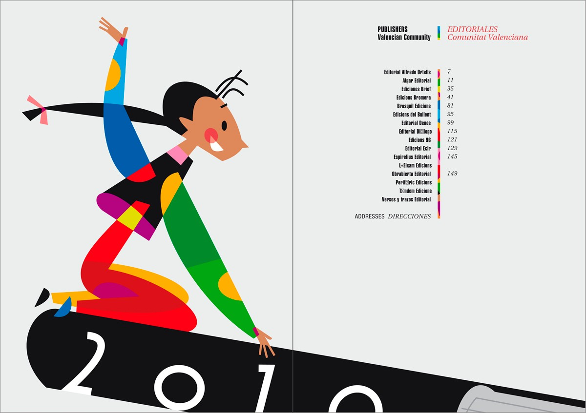 Separador - Catálogo de libros infantiles y juveniles, Bolonia 2010, diseño Paco Giménez