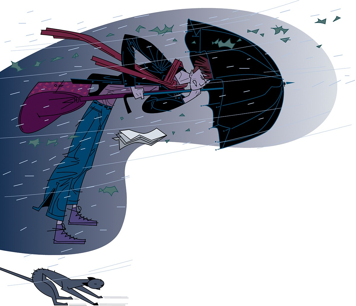 Storm umbrella, Paco Gimenez ilustracion, Timoner 6, SM