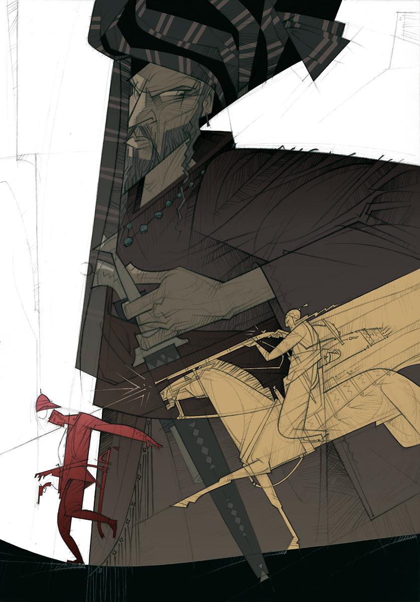 03 Rudyard Kipling, El regimiento perdido, ilustración de Paco Giménez