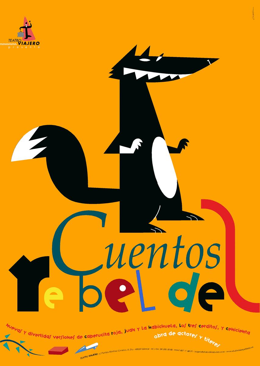 03- cartel 'Cuentos rebeldes', Teatro Viajero, diseño Paco Giménez