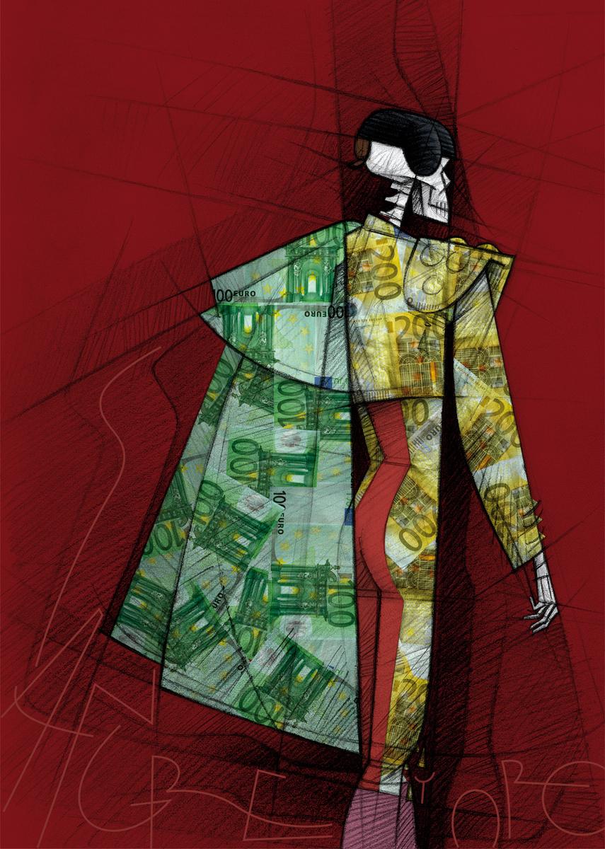 03- cartel 'Sangre y oro' de Paco Giménez. Exposicion 'Vivan los toros. Carteles para la reflexión', comisario Boke Bazán. La Nave, Universidad de Valencia