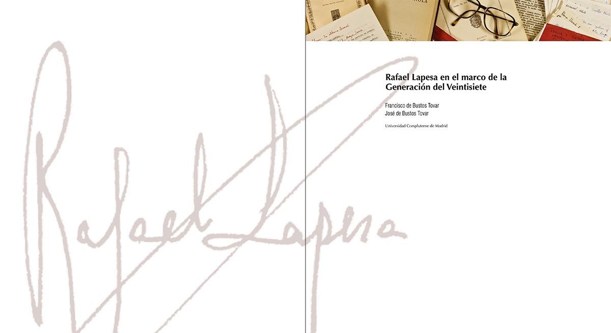 El Legado de Rafael Lapesa (Valencia, 1908-Madrid, 2001), diseño Paco Giménez