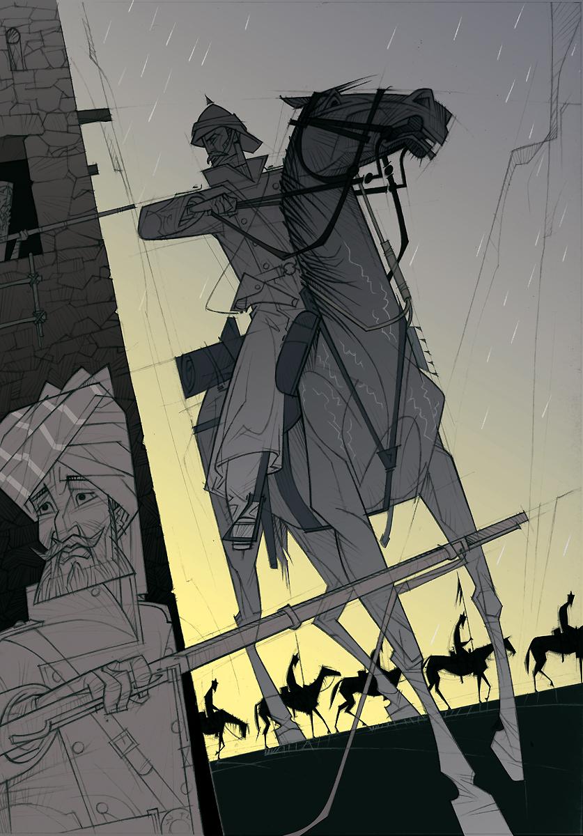 04 Rudyard Kipling, El regimiento perdido, ilustración de Paco Giménez