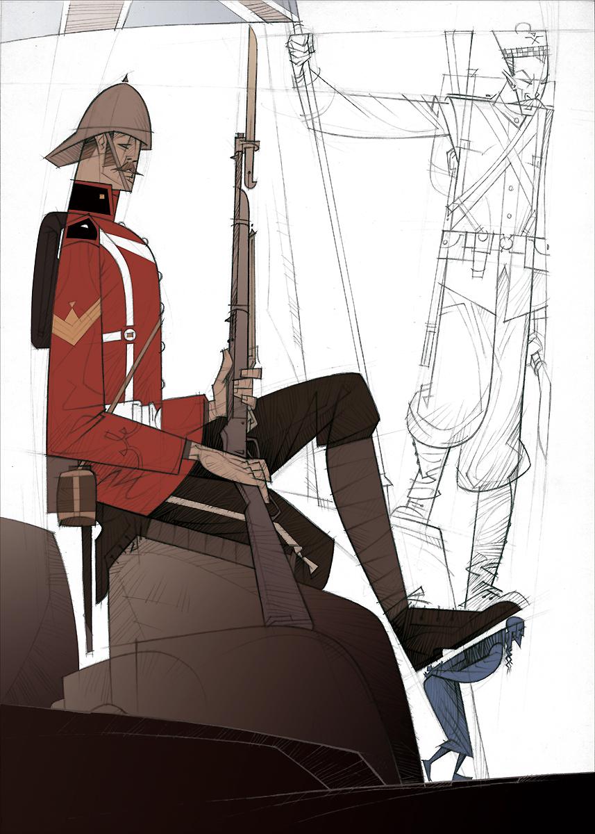 05 Rudyard Kipling, El regimiento perdido, ilustración de Paco Giménez