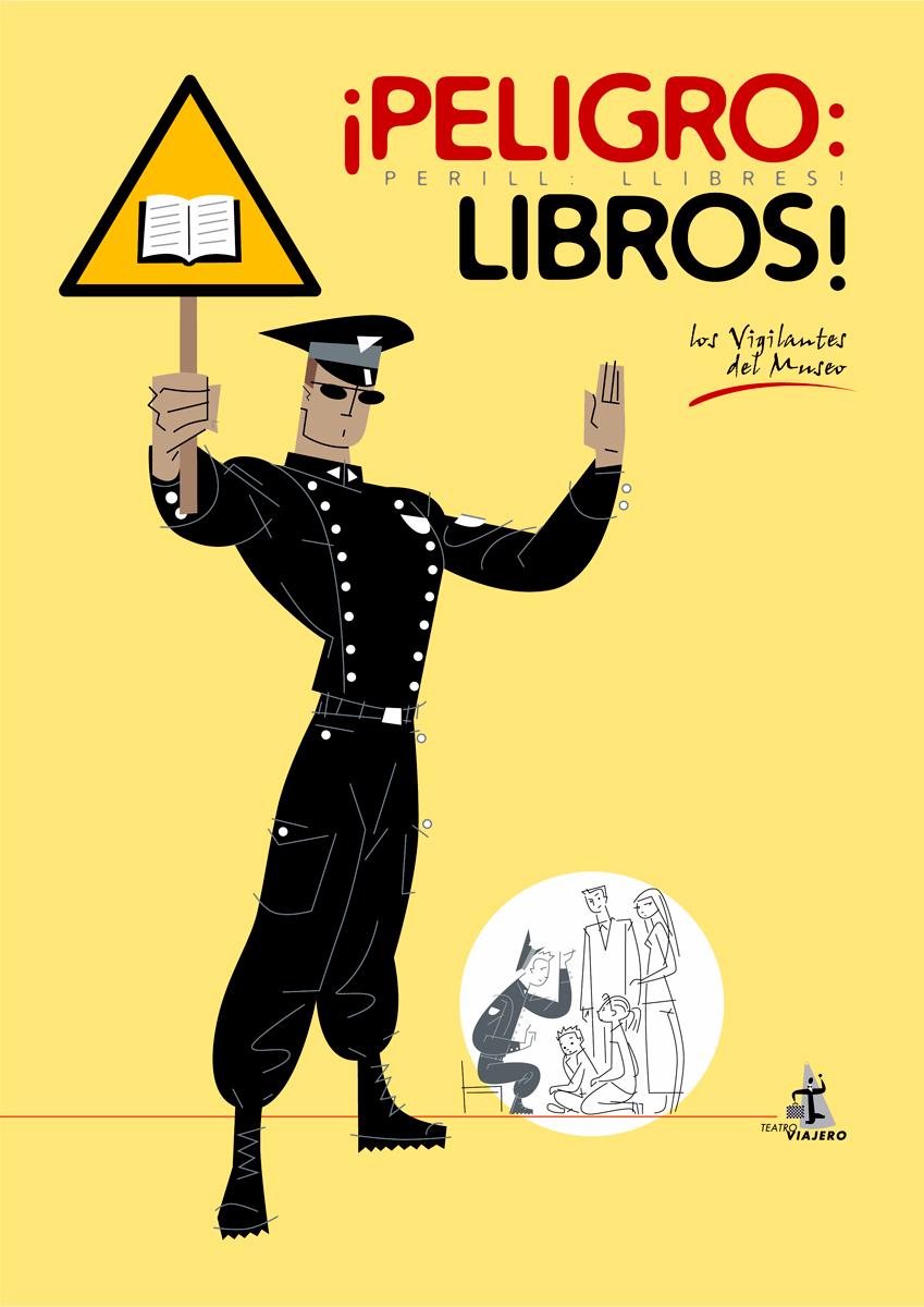 07- cartel 'Peligro libros', Vicente Cortés, diseño Paco Giménez