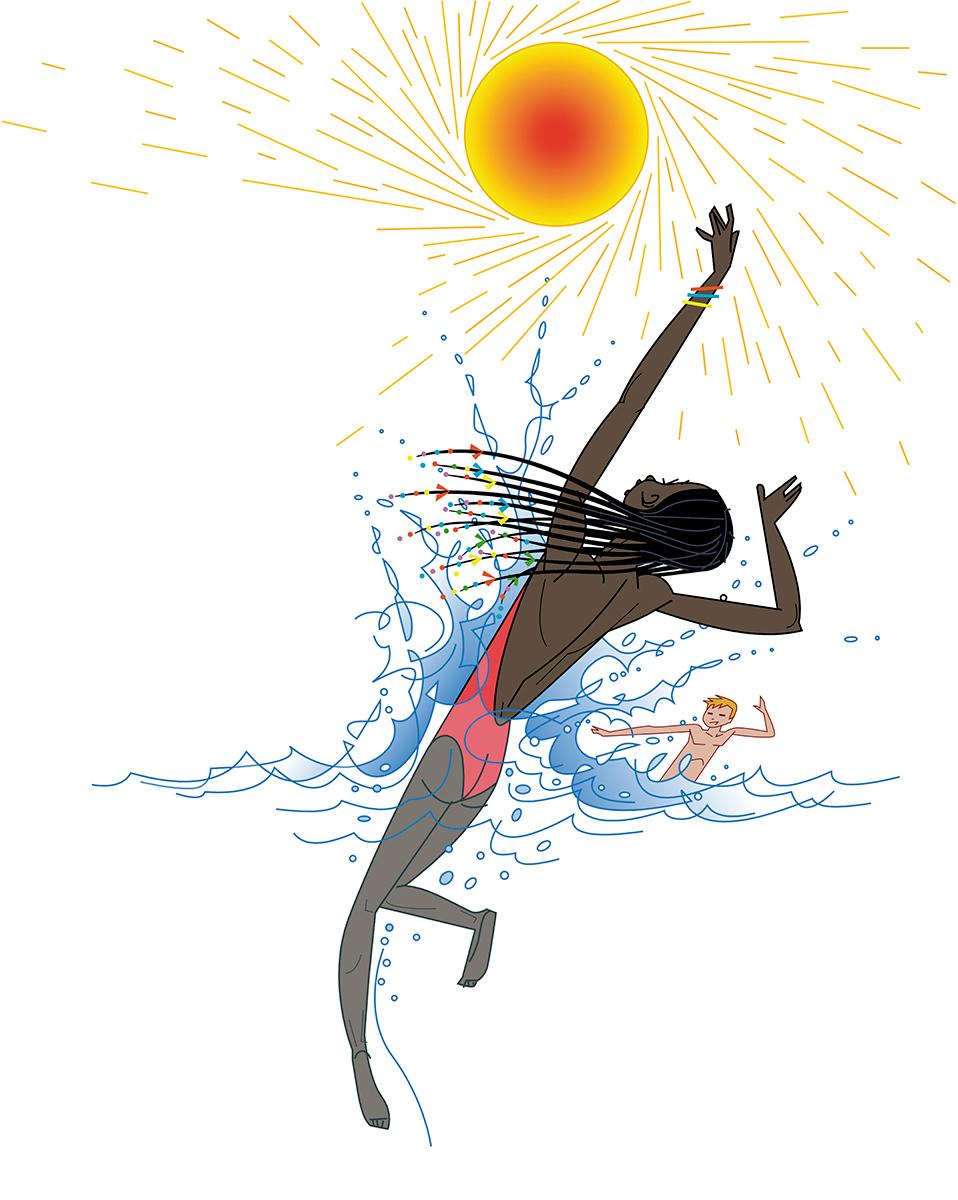 Sol y mar, Paco Gimenez ilustracion, Timoner 6, SM