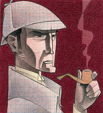 1- Portada, 'Sherlock Holmes i el constructor de Norwood', Arthur Conan Doyle, Paco Giménez, Ed.Bromera
