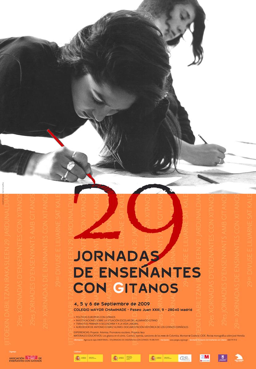 11- cartel '29 Jornadas de Enseñantes con Gitanos' 2009, AECG, diseño Paco Giménez