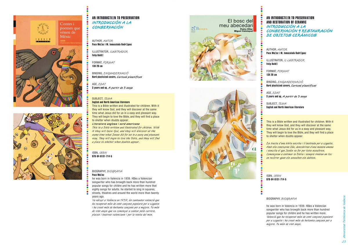 Ficha - Catálogo de libros infantiles y juveniles, Bolonia 2011
