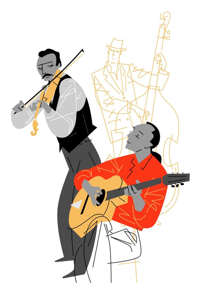 3- Francia, jazz-manouche, Titi Winterstein, 'Músicas de los gitanos de Europa', Paco Giménez, Iniciativa EQUAL, Unión Europea