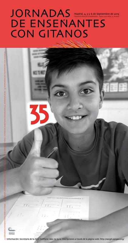 Cartel 35 Jornadas de Enseñantes con Gitanos -  Paco Giménez Jesús Salinas