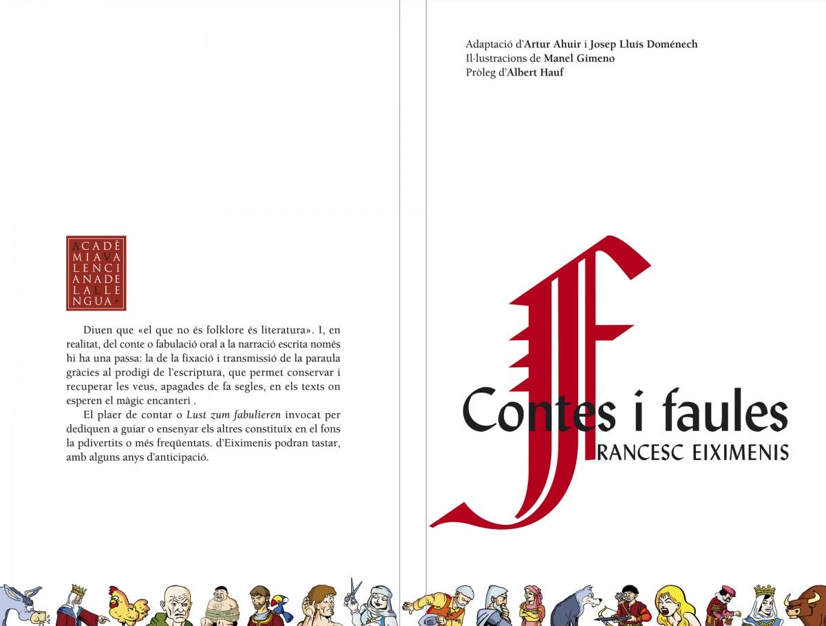 cobertes, Contes i faules, Francesc Eiximenis, disseny Paco Giménez