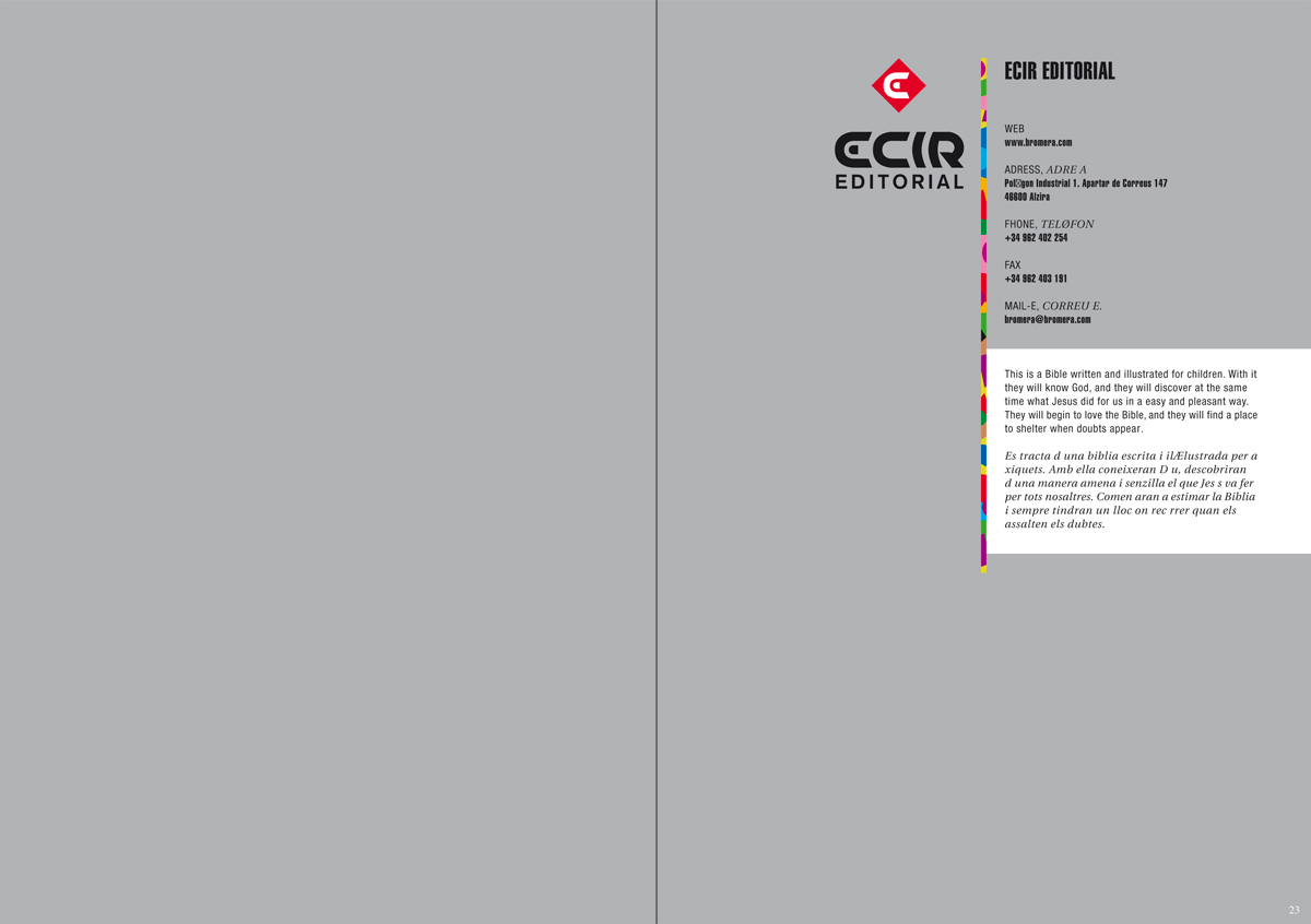 Editorial - Catálogo libros infantiles y juveniles, Bolonia 2010