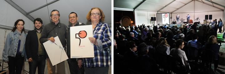 José García Poveda + público. 50 aniversario Fira del Llibre de València, Gremi de Llibrers