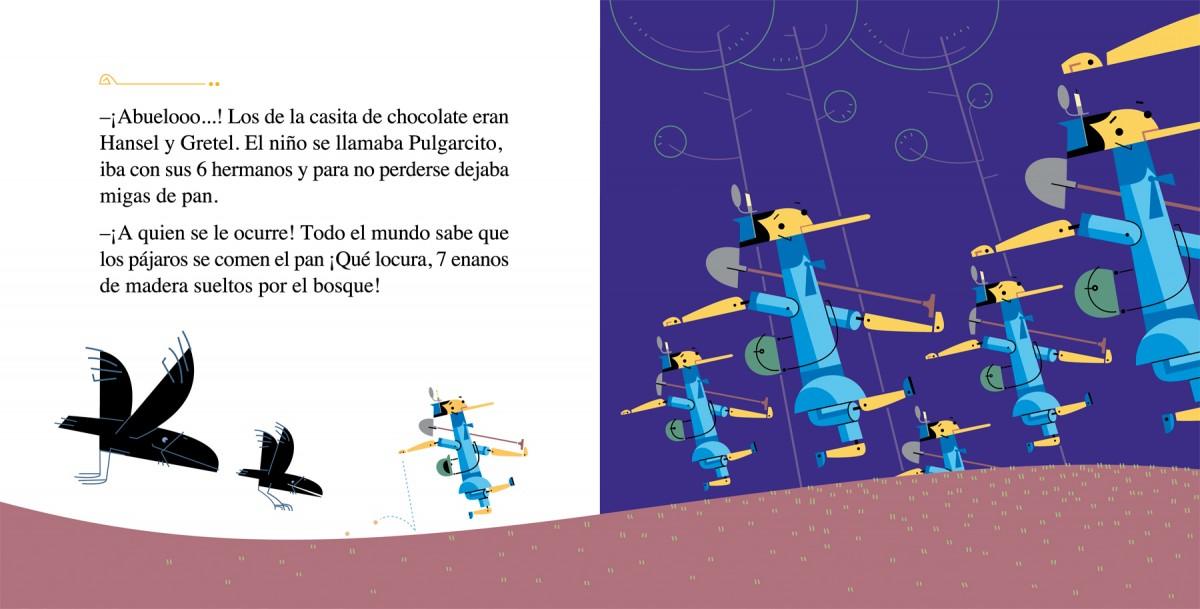 Los 7 pinochitos mineros, ¡¡¡Abuelooo!!!, Carles Cano y Paco Giménez. Anaya