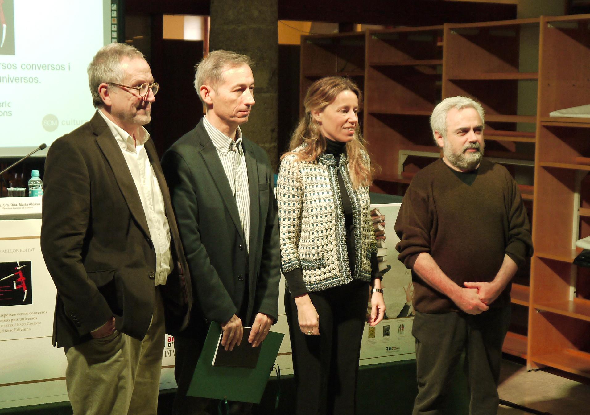 Premi al llibre millor editat de 2013. Acte de lliurament. Figuerola, Ballester, Climent, Giménez. Figuerola, Ballester, Climent, Giménez