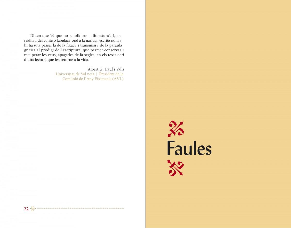 Separadori, Contes i faules, Francesc Eiximenis, disseny Paco Giménez