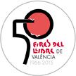 CHAPA 50 ferias del libro deValencia, diseño Paco Giménez