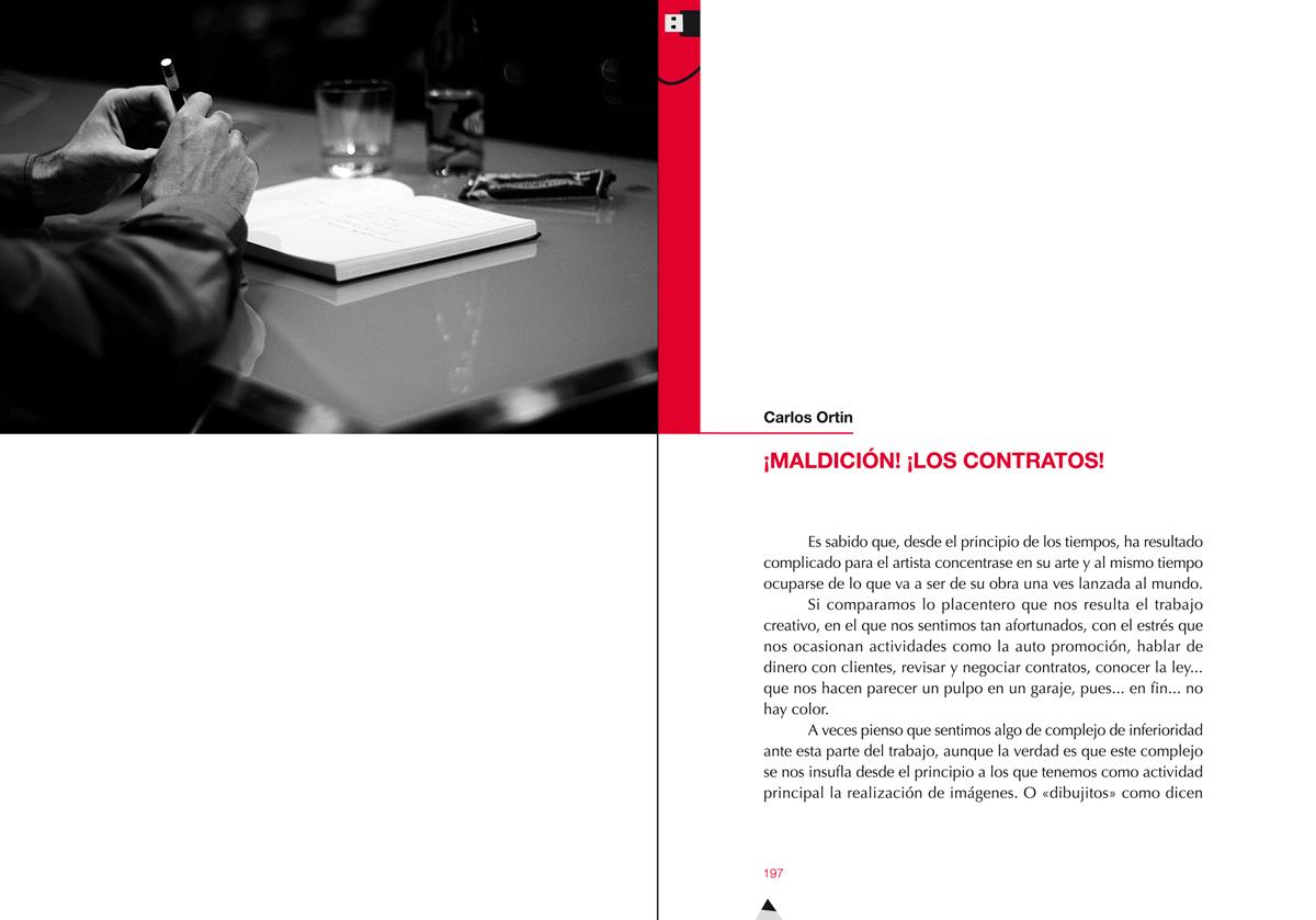Capítulo x, Ilustración gráfica. Nuevos escenarios (Memoria de las 'Jornadas sobre ilustración gráfica' MuVIM), diseño Paco Giménez
