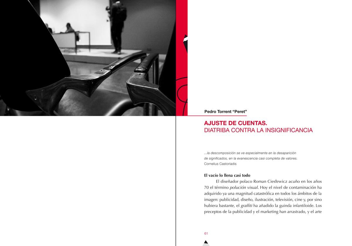 capítulo Peret Ilustración gráfica, Nuevos escenarios, Memoria de las Jornadas sobre ilustracion gráfica, MuVIM, diseño Paco Giménez