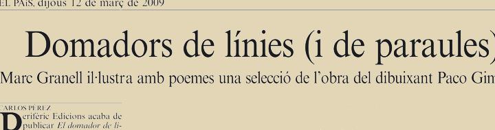 «El domador de líneas» en 'El País'