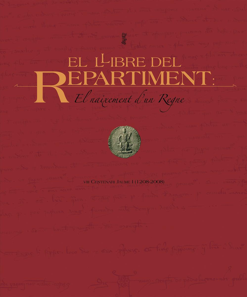 Portada - Llibre del Repartiment (Jaume I), diseño Paco Giménez