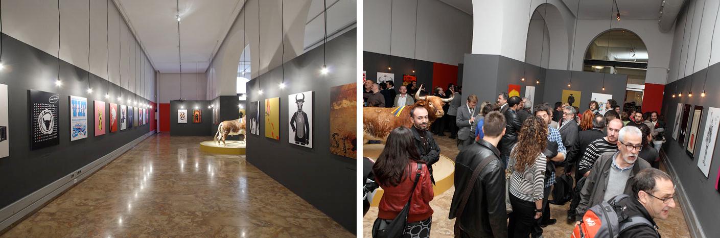 Sala y publico, exposicion 'Vivan-los-toros. Carteles para la reflexión'