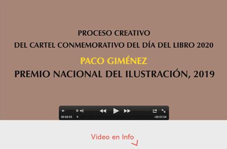 Vídeo del proceso creativo del cartel del Día del Libro de 2020 y homenaje a Joan Margarit, Premio Cervantes 2019, diseño de Paco Giménez, Premio Nacional de Ilustración 2019